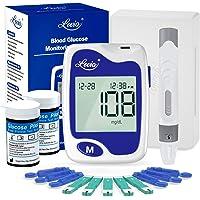 Blood Glucose Monitor Kit - Lovia Diabetes Testing Kit with Blood Sugar Monitor, 50 Blood Test Strips, 50 Lancets…