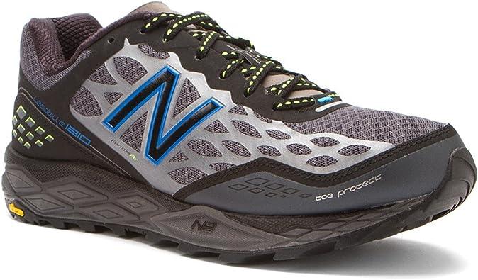 Zapatillas de trail running MT1210 para hombre, tama?o: 9.5 Ancho: 2E Color: negro / plateado / azul: Amazon.es: Zapatos y complementos