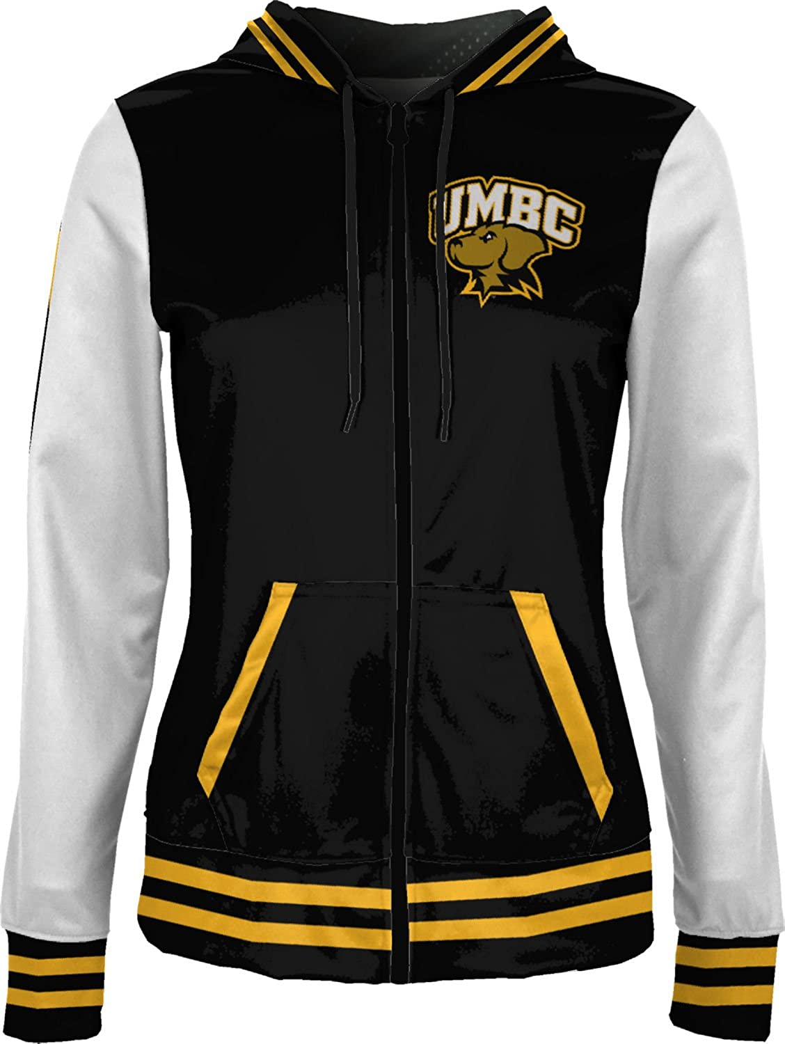 ProSphere University of Maryland Baltimore County Girls Zipper Hoodie School Spirit Sweatshirt Letterman