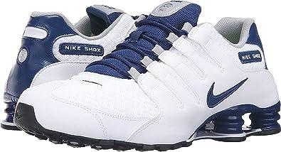 low priced c5ec9 8fc1a Nike Shox NZ del Hombre se Zapatillas de Running Blanco costeras  Blue-Coastal Azul 10 D (M) US  NIKE  Amazon.es  Zapatos y complementos