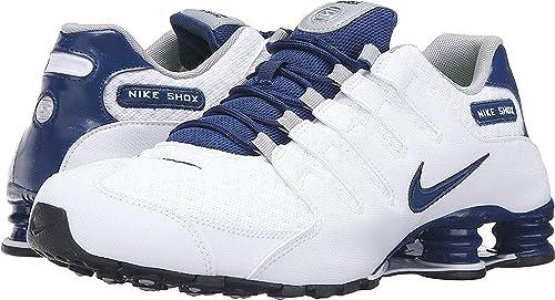 low priced 3fbb6 44552 Nike Shox NZ del Hombre se Zapatillas de Running Blanco costeras  Blue-Coastal Azul 10 D (M) US  NIKE  Amazon.es  Zapatos y complementos
