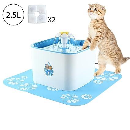 Pawaca - Bomba de fuente para gatos, 2,5 L, ciclo automático,