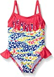 Pink Platinum Baby Girls' Heart Print Swimsuit