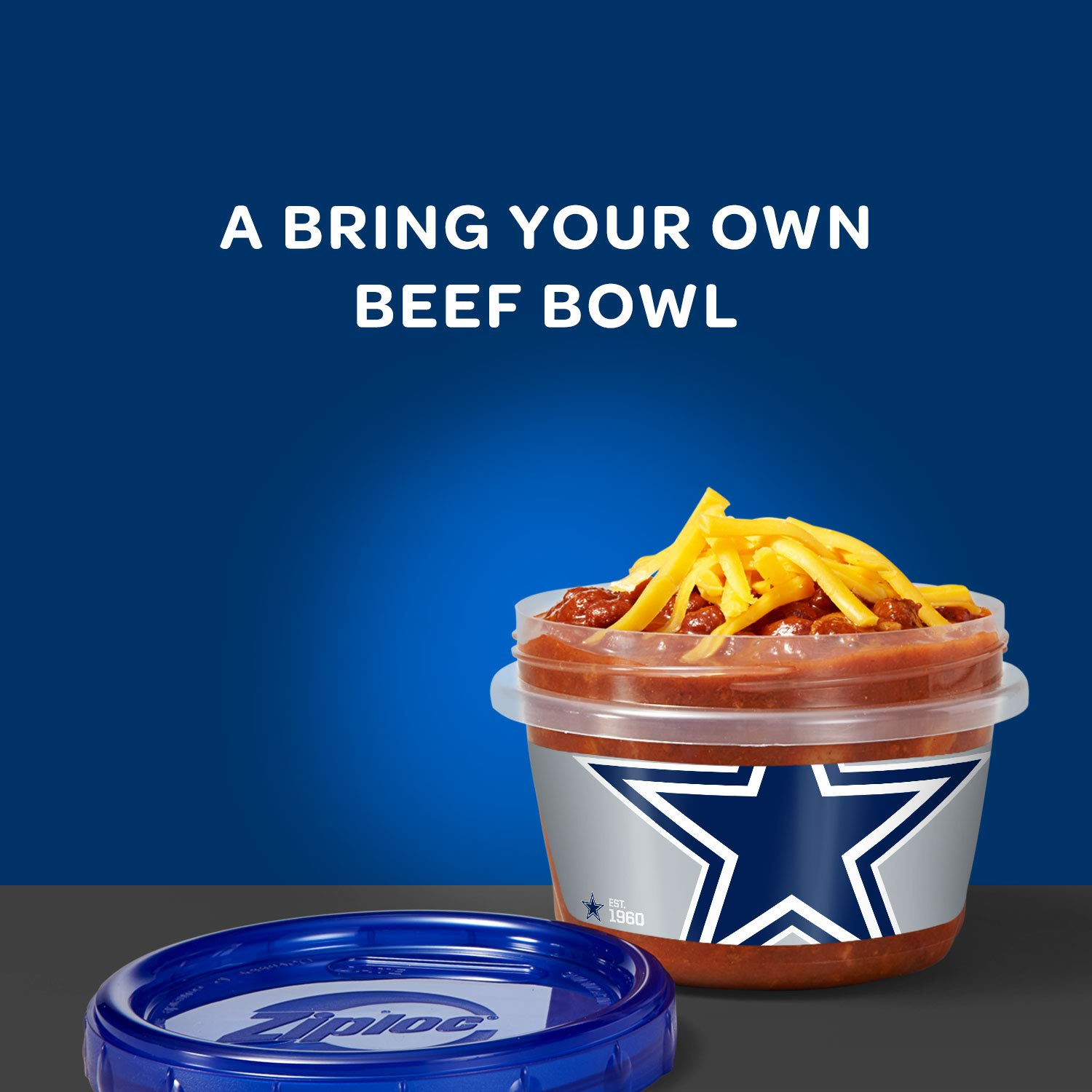 Amazon.com : Ziploc Brand NFL Dallas Cowboys Twist n Loc Containers, Small, 2 ct, 3 pack : Grocery & Gourmet Food