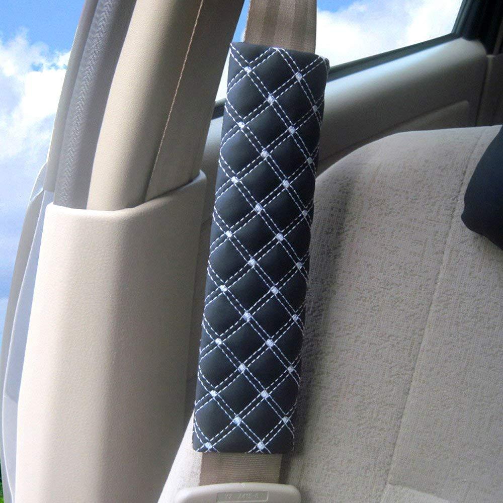 4er-Pack WESEEDOO Autositzgurt-Protektoren Premium-Sicherheitsgurtabdeckung Universelle Sicherheitsgurtpolster Komfortabdeckung