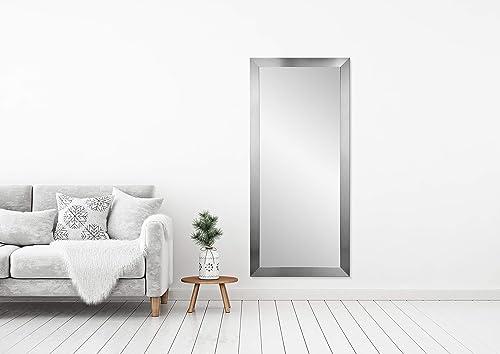 BrandtWorks Commercial Value Hotel Design Vanity Wall Mirror, 32 x 66 , Silver