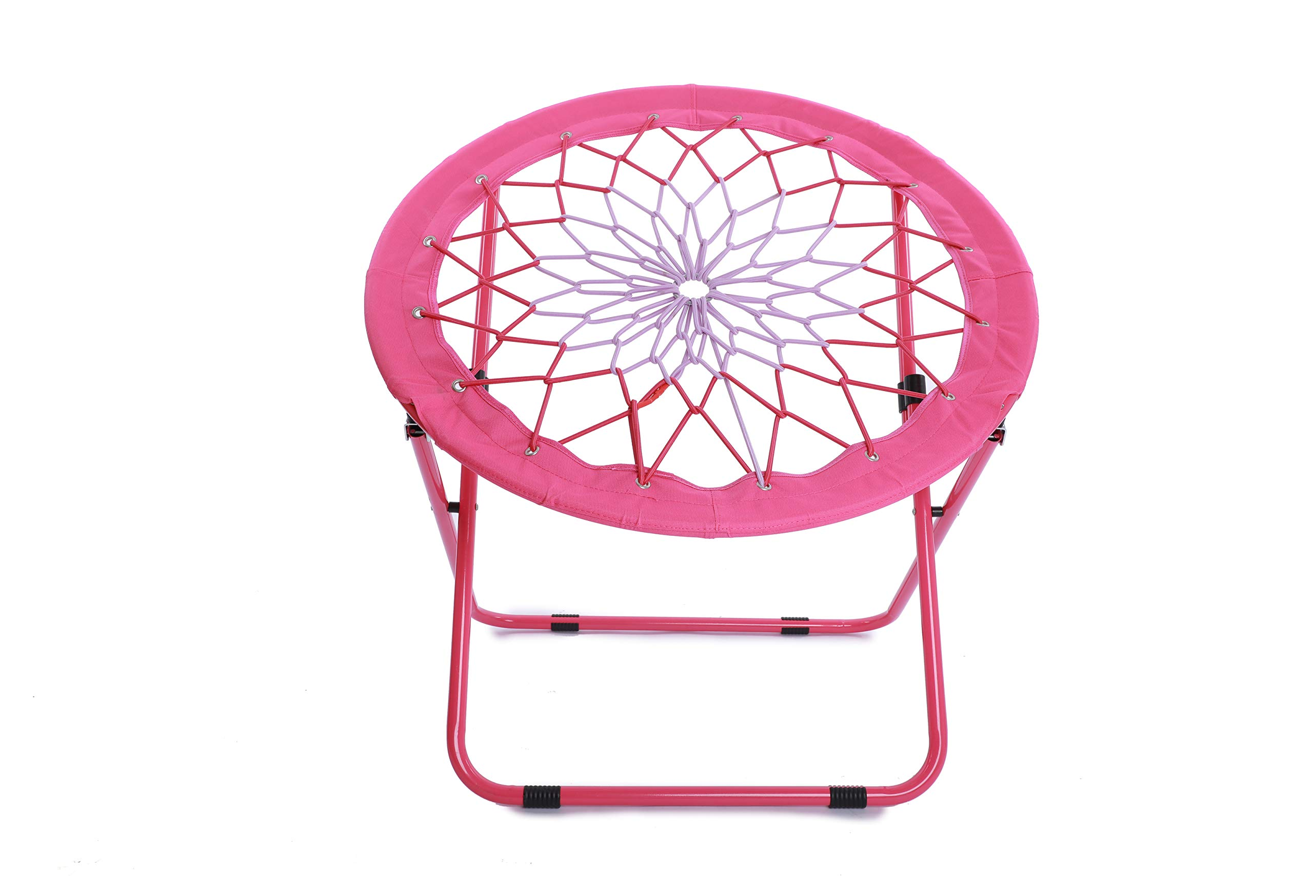 Camp Field Camping and Room Bungee Folding Dish Chair for Room Garden and Outdoor (Pink) by Camp Field