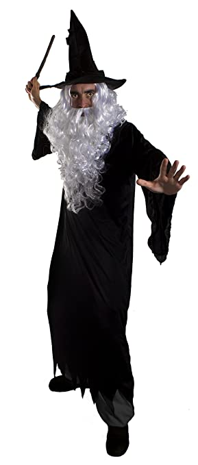 DARK WIZARD HALLOWEEN FANCY DRESS COSTUME FOR MEN - BLACK RAGGED ROBE WITH HOOD + BLACK  sc 1 st  Amazon UK : dark wizard costume  - Germanpascual.Com
