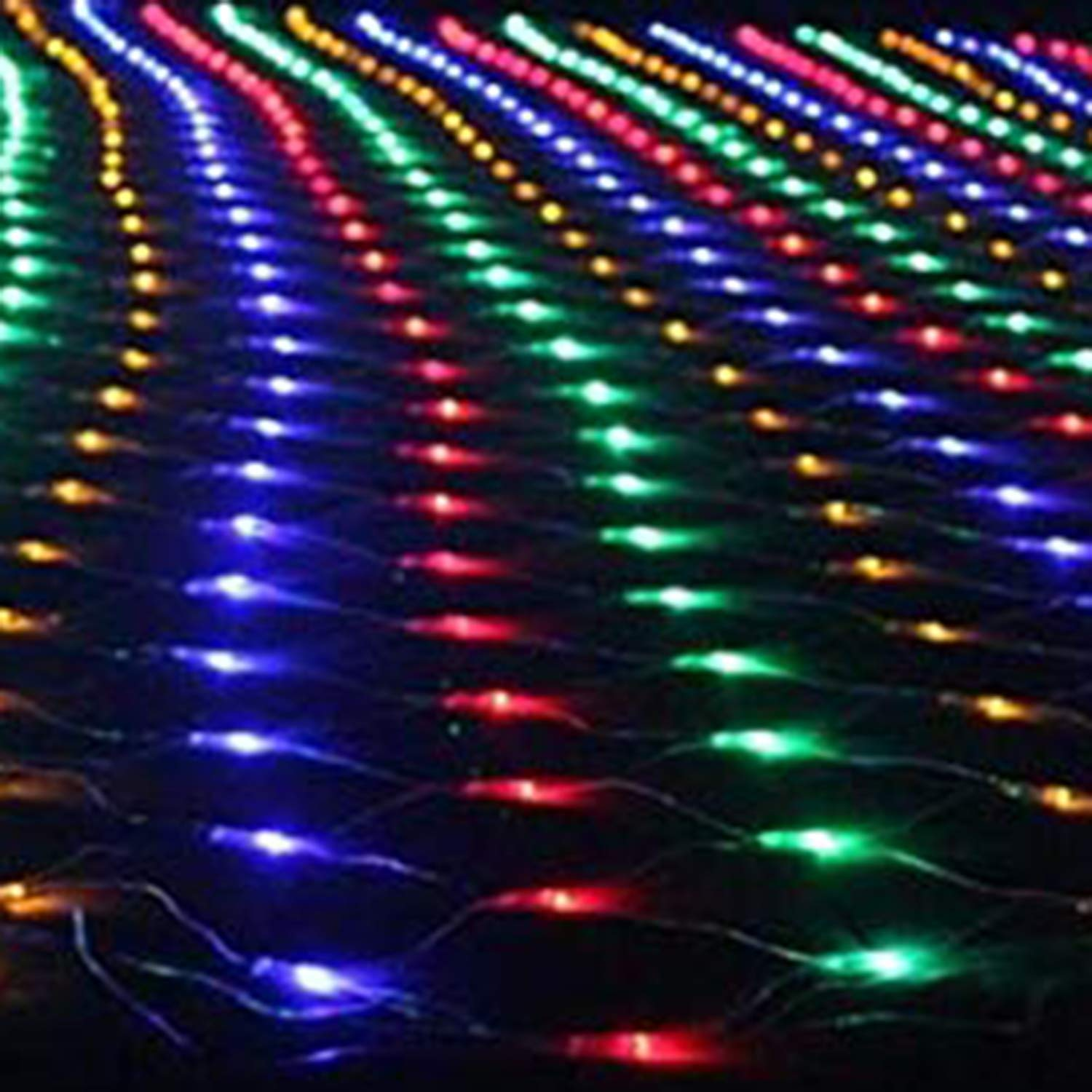A Variety of Color Options Specifications 1.5m /× 1.5m Holiday Waterproof High-Brightness Lamp Beads WZCXYX LED Net Light Fishnet Lamp Fairy Lamp Fairy Light Suitable for Courtyard 96 Lamp Beads