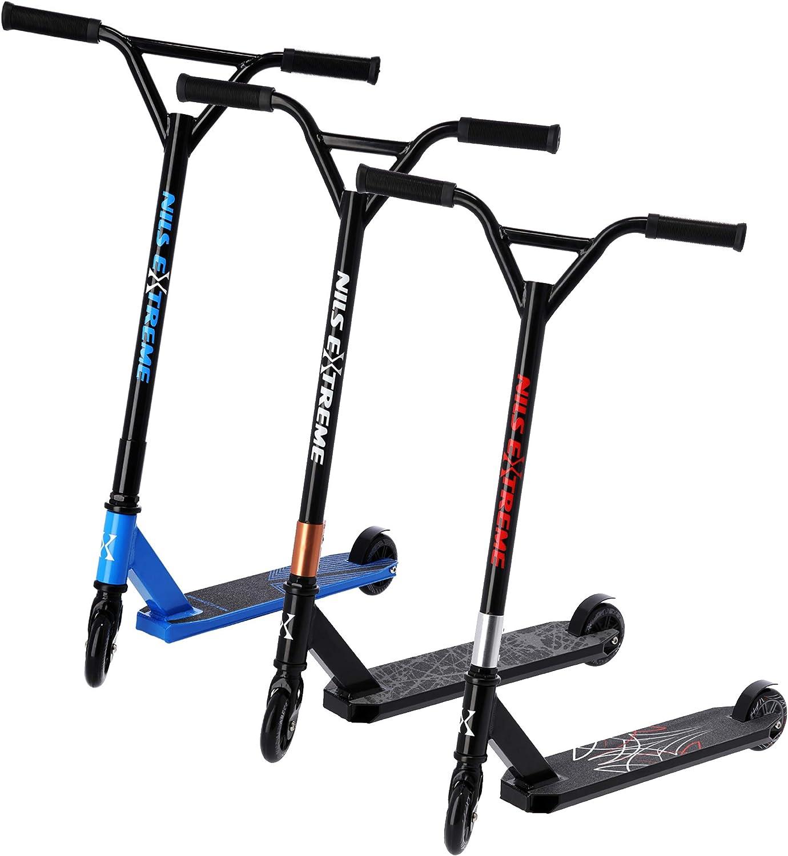 NILS Stunt Scooter Roller ABEC 9 Freestyle Kickscooter für Kinder & Erwachsene | 100mm PU Räder | Lenker 360° drehbar kaufen