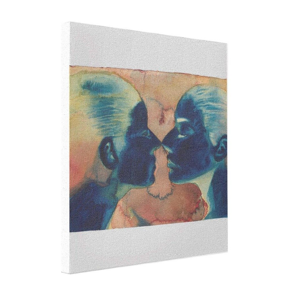 Amazon.com: KimPark Cheap Art Canvas Female Face Image Reflection  Narcissism Narcissistic Twins Twin Kiss Lesbian Lovers Self Relationship  Mirror: Posters & ...