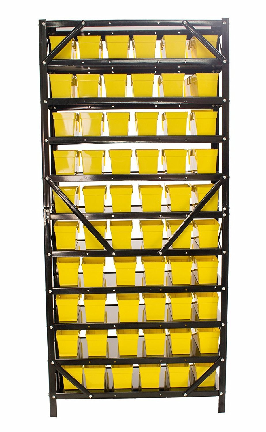 60 Bin Parts Rack easily Organize Nuts, Bolts, or Parts, Removable ...
