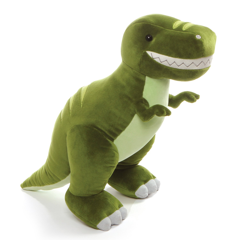 "GUND Chomper Dinosaur T-Rex Stuffed Animal Plush, Green, 15"""