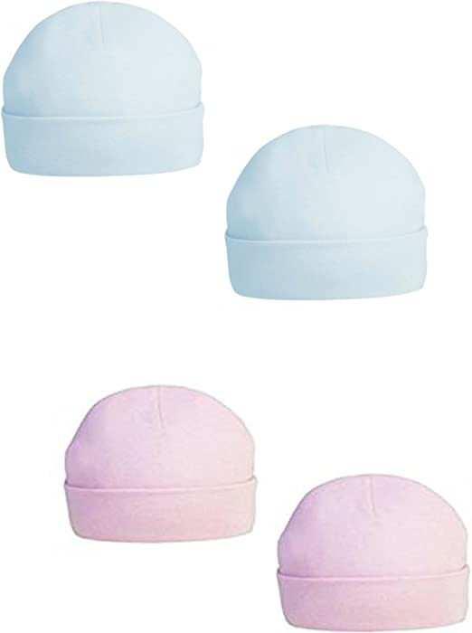 unisex baby available in newborn and 0-3 months New 100/% cotton White Baby Hat by Soft Touch