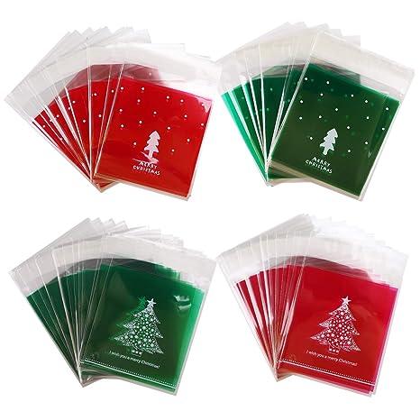 Amazon.com: Bolsas de caramelos de Navidad, 400 piezas de ...