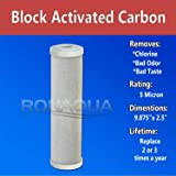 Dual Sediment and Activated Carbon Block Whole