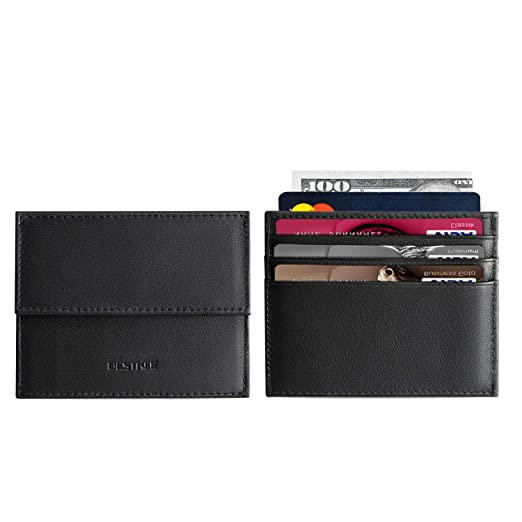 new concept 4675c 42753 Slim Minimalist Wallet RFID Front Pocket Wallets with Coin bag, Credit Card  Holder for Men Women