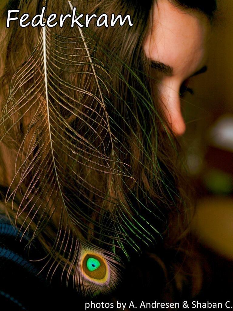 Pfau Feder Haar Extension grün, Haarschmuck Clips Haarspange Federschmuck handgemacht