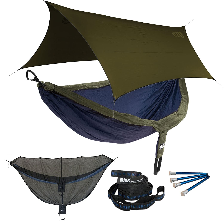 Amazon.com: ENO DoubleNest OneLink Sleep System   Navy/Olive Hammock With  Olive Profly: Sports U0026 Outdoors
