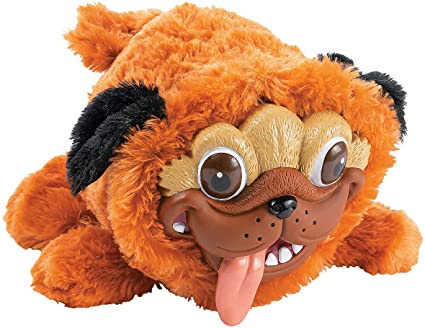 Realistic Pug Stuffed Animal, Amazon Com Fun Express Pug Stuffed Animal Dog With Silly Realistic Face Plush Toy Toys Games