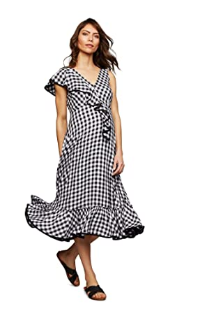 5081110f5b21f Image Unavailable. Image not available for. Color: A Pea in the Pod Ruffled Maternity  Dress