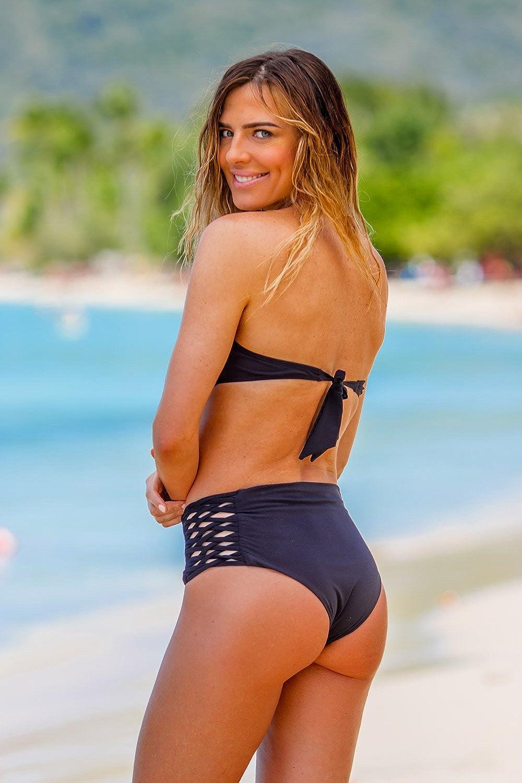 Bikini-Hose High-Waist Slip Emmatika Nero Tika Schwarz