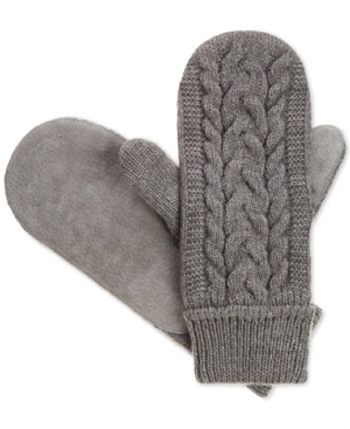 Isotoner Signature Solid Triple Cable Mittens, One Size