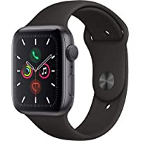 Apple Watch Series 5 (GPS) 44mm Space Gray Aluminum Case with Black Sport Band Smartwatch