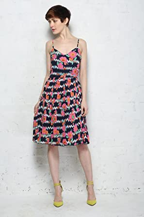 18e4b4085b5b Sugarhill Boutique Floral Zig Zag Summer Dress (Size 14): Amazon.co.uk:  Clothing