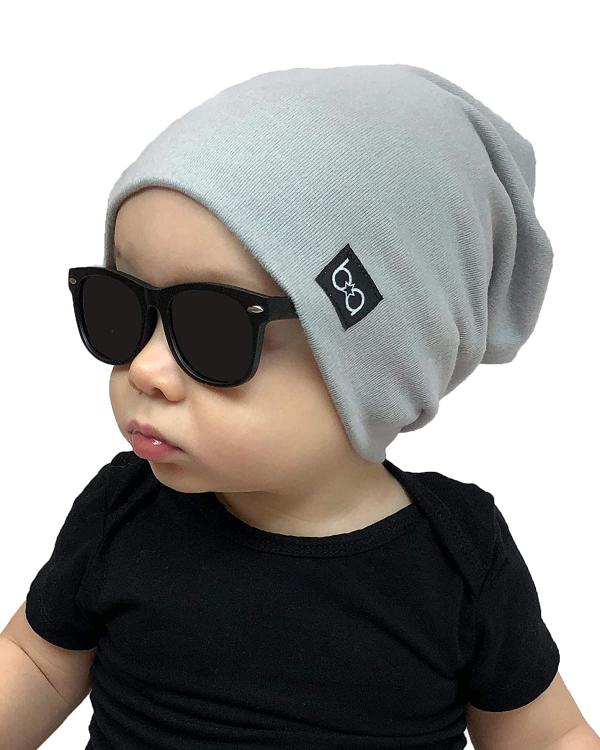 Babyfied Apparel Cotton Slouchy Baby Beanie Hat 0-2 Yrs