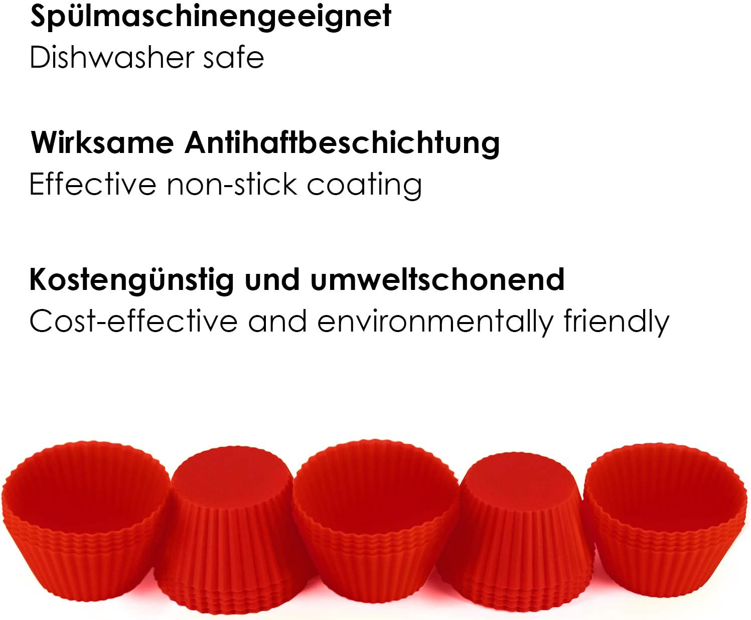 Cupcake Muffin Forms Reusable Environmentally Friendly BPA-Free Baking Forms Cupcake Forms GOURMEO/® 25 Muffin Forms Available in Blue high-Quality Silicone
