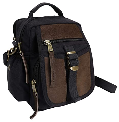 Amazon.com  Rothco Canvas   Leather Travel Shoulder Bag 822099aad