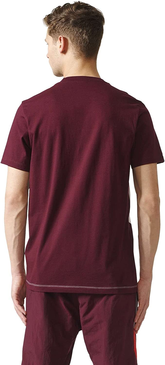 adidas Pete CL Tee T Shirt, Homme XL Grenat (Granat): Amazon