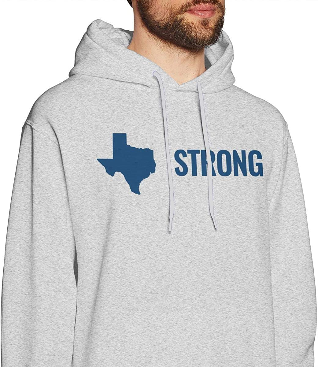 Mens Hurricane Harvey Texas Strong Hooded Sweatshirt Casual Athletic Pullover T-Shirt Gray