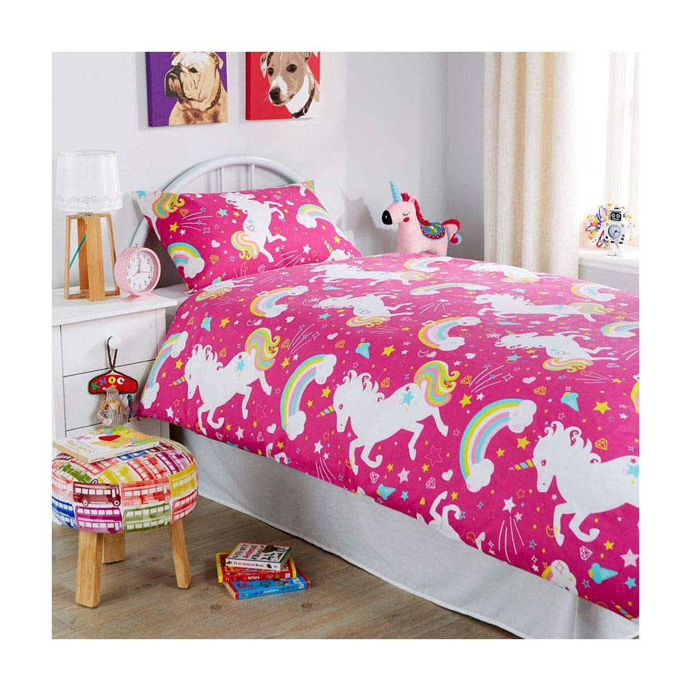 Unicorn  Duvet//Quilt Cover Set With Matching Pillowcases SINGLE DOUBLE