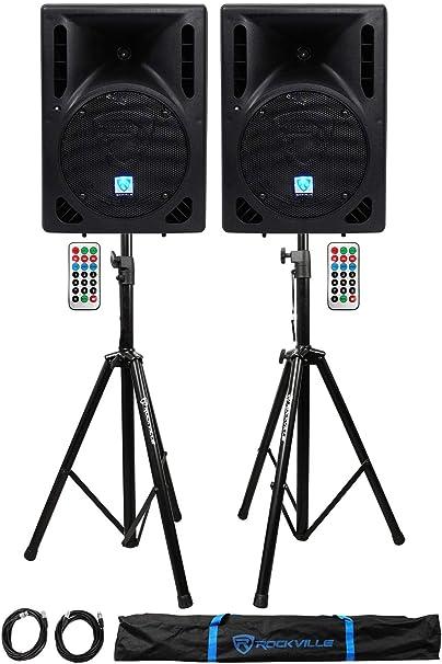 Rockville RPG15BT 15 2000w Powered BlueTooth/USB DJ Speakers+ ...