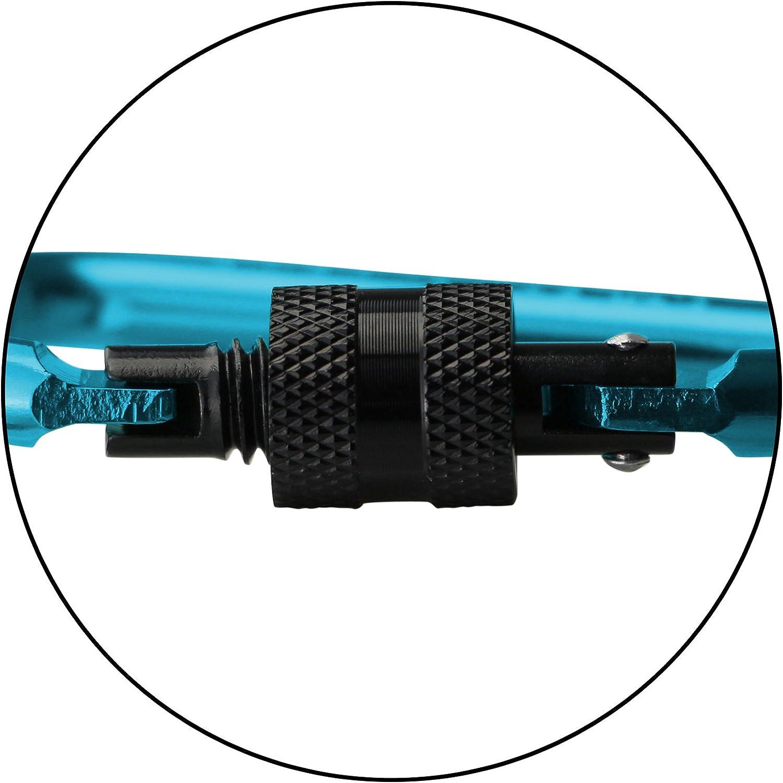 BB SPORT 30er Set Materialkarabiner Karabiner Schraubverschluss Mini Schl/üsselanh/änger Karabinerhaken Zubeh/örkarabiner Schraubkarabiner