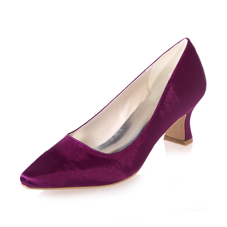 L@YC Frauen Hochzeit Schuhe & 0723-01 / Seide / Professionelle Wies Professionelle / KostüMe Party / Mehr VerfüGbare Farben Purple 06342d