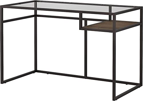 Bush Furniture Anthropology 48W Glass Top Writing Desk