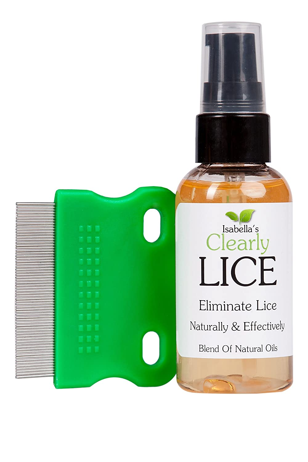 Isabella's Clearly LICE, Powerful Treatment of Natural Oils Proven to Eliminate Lice and Nits. No Toxics or Harsh Chemicals. FREE Lice Comb. For Kids & Adults. Neem, Rosemary, Cedarwood. 2 Oz. Isabella's Clearly LICE 11006