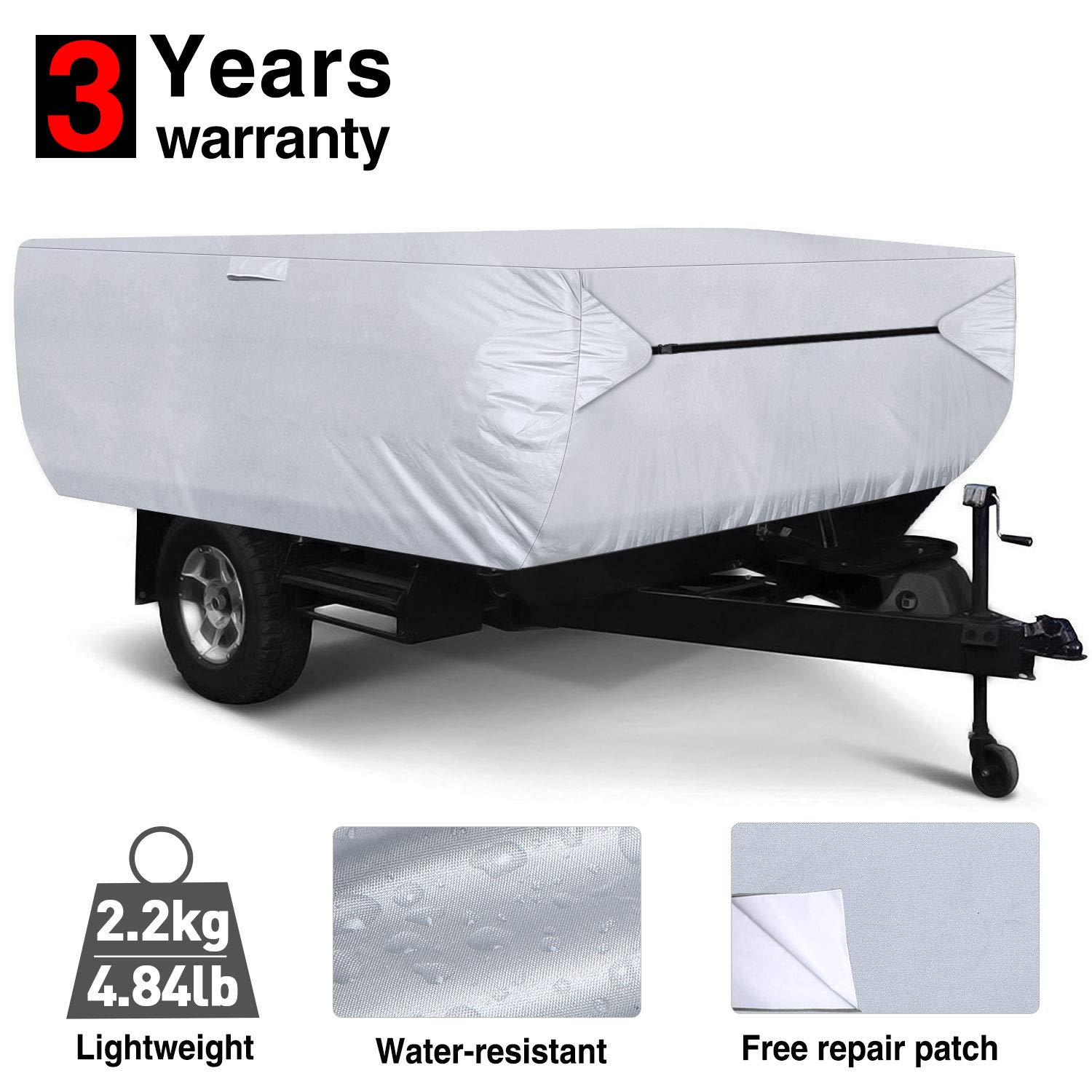 RVMasking Pop Up / Folding Camper Cover, Fits 10' - 12' Trailers by RVMasking