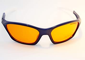 153987f6bc BlueKnight Sleep Aid Navy Blue Frame-White Tips - Extra Anti Blue Light  Blocking Glasses