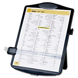 Easel Document Holders, Adjustable, 10 x 2 x 14 Inches, Black