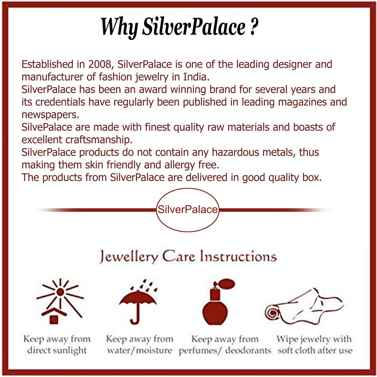 Silver Palace Sterling Silver Natural Green Onyx,Ruby Pendant for Women and Girls