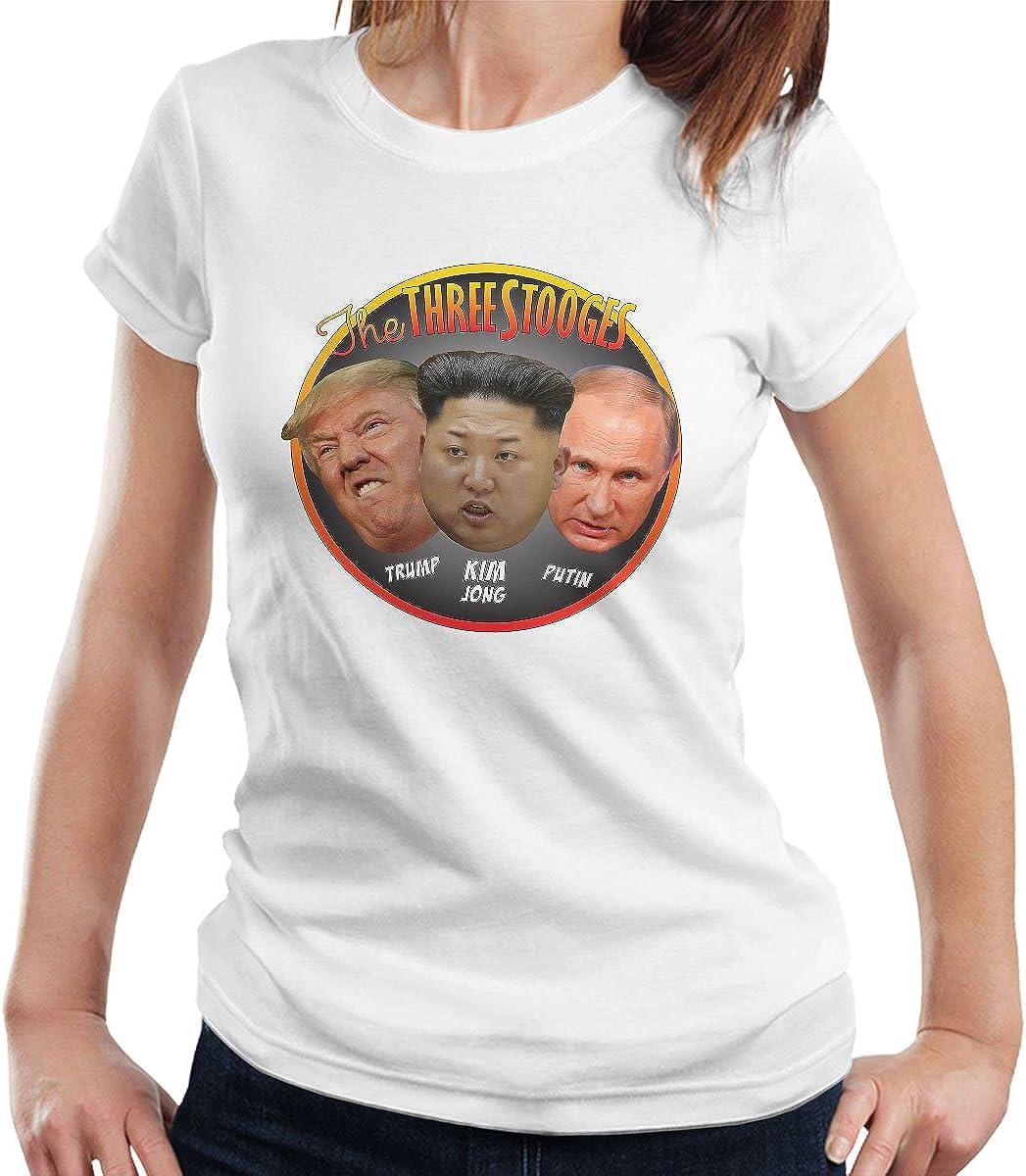 The Three Stooges Trump Kim Jong Putin Womens T-Shirt ...