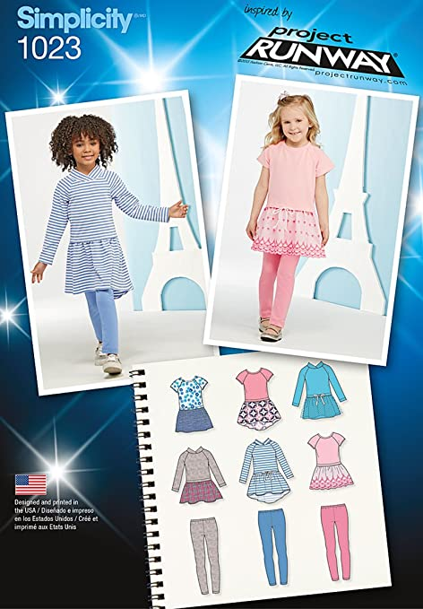Simplicity 1023 Size A Childs Dress And Leggings Project Runway
