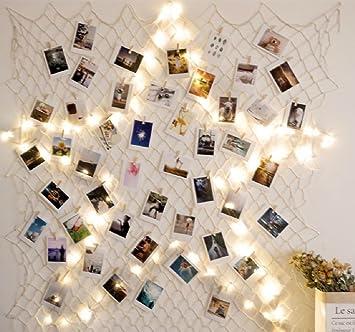 Hamigo Diy Bilderrahmen Fotorahmen Collage Mit 10m Lichterkette Fur