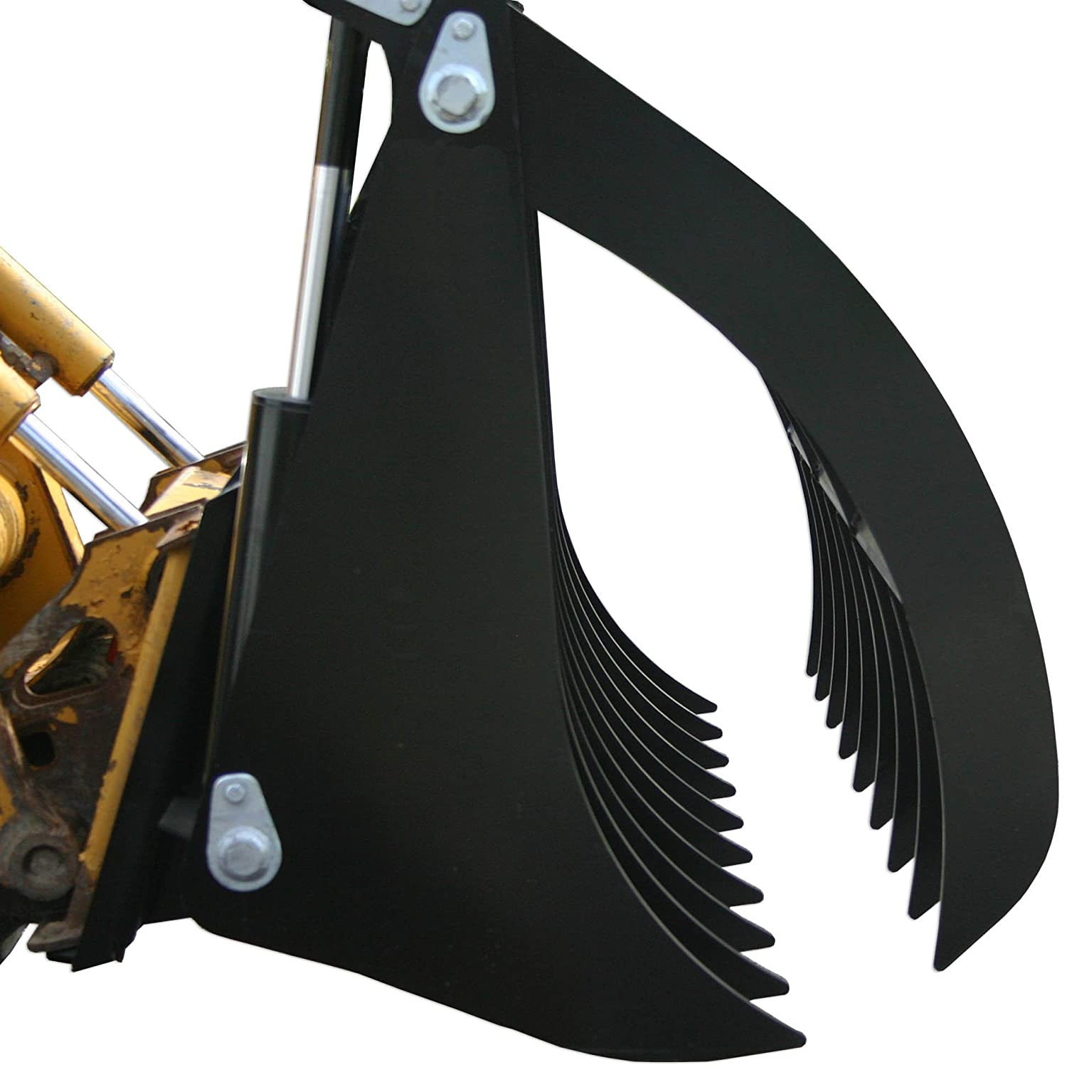 Titan 84' Root Grapple Rock Rake Skid Steer Clamshell Attachment loader V2 Titan Attachments