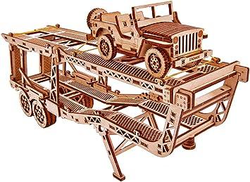 Wood Trick Puzzle m/écanique en bois Puzzle 3D Camion