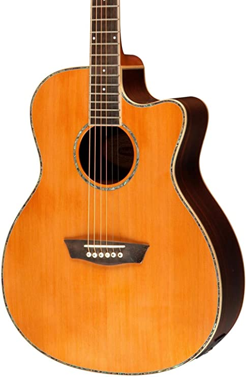 Washburn WD25 serie wg26sce acústica guitarra eléctrica: Amazon.es ...